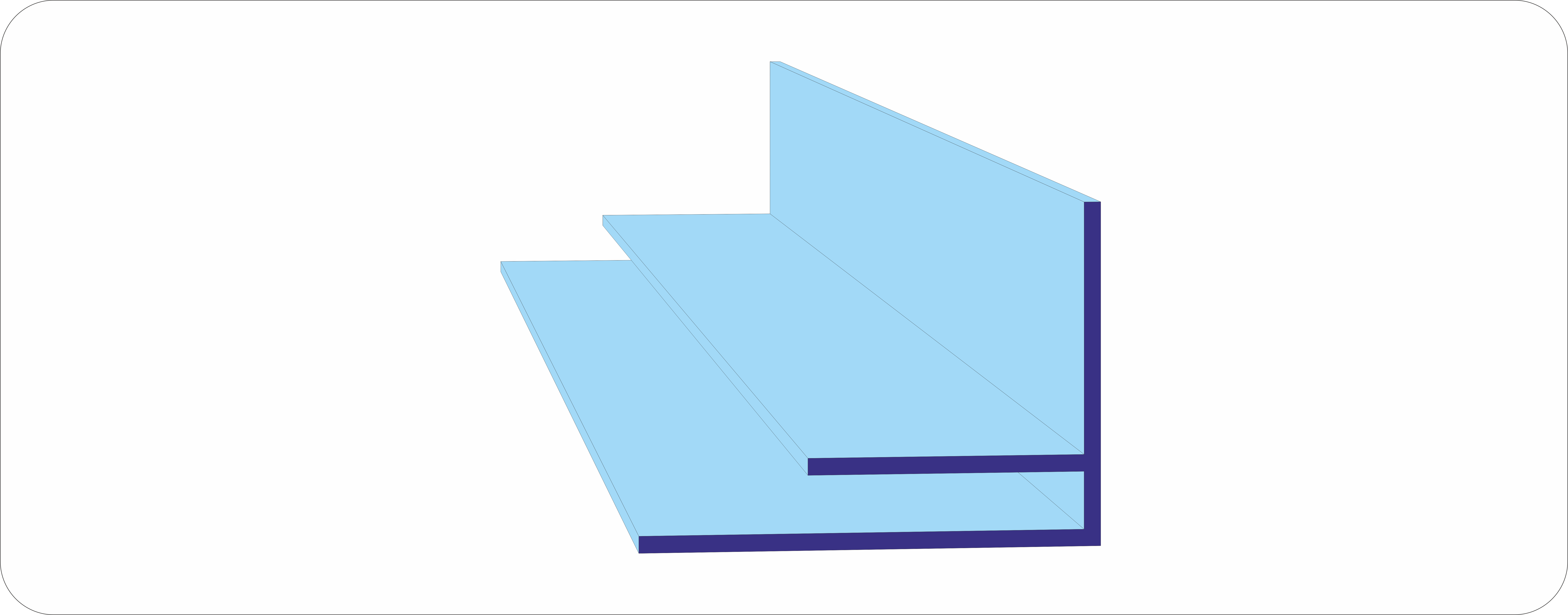 Пристенный профиль из поликарбоната